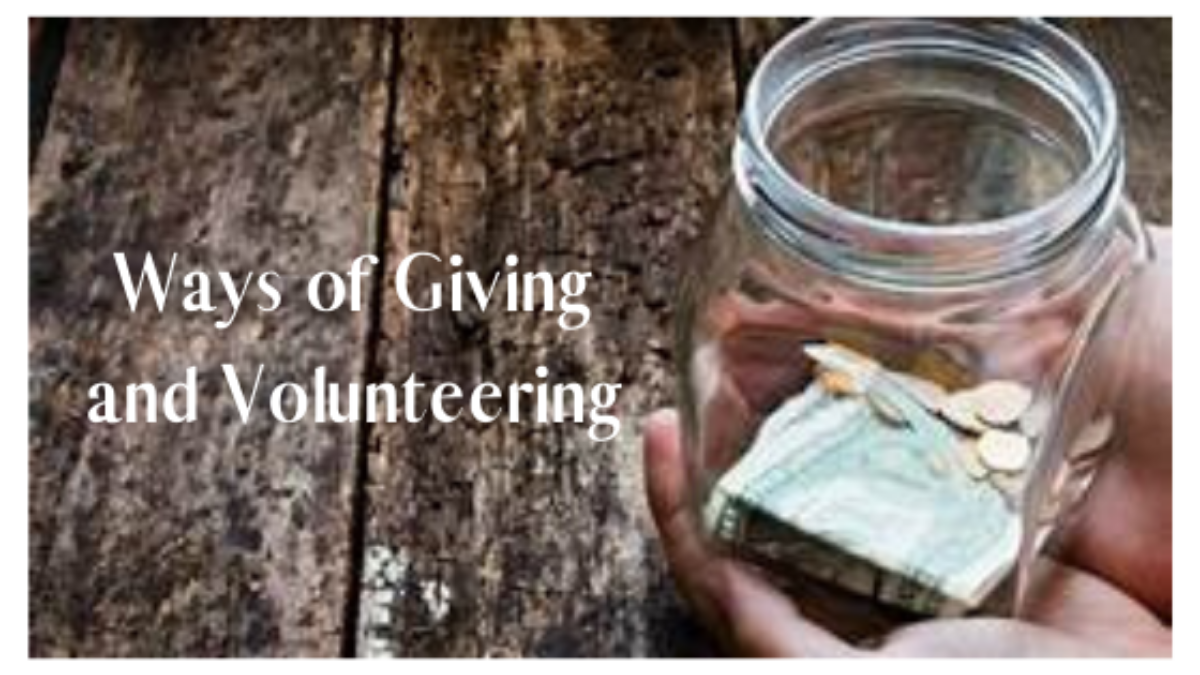 Ways of Giving and Volunterring