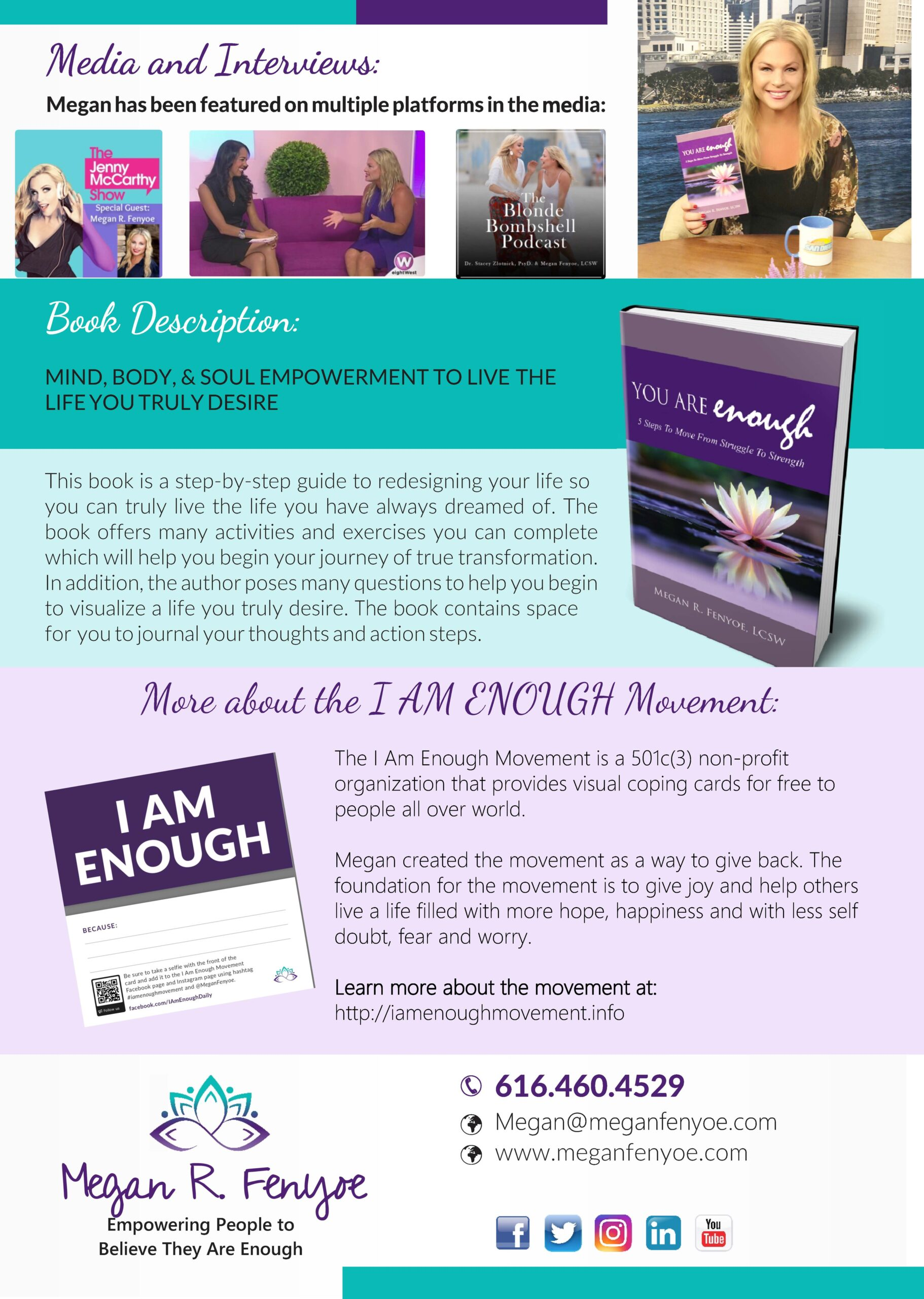 Megan Fenyoe, Public Speaker and CEO of the I Am Enough Movement